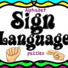 Sign Language Puzzles ~ Alphabet Matching Centers   **Match the letters from the alphabet to the sign language hand formation of that letter.  I us...