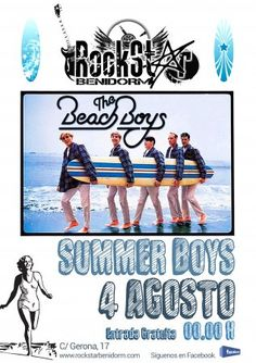 Tributo a The Beach Boys en #Benidorm Cartel de mi colega Eric!!
