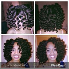 Bantu knot out . NO flat iron just blow dryer