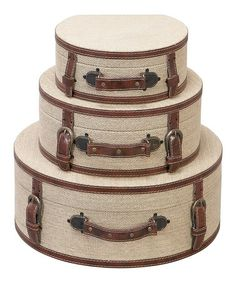 Take a look at this Cream & Brown Box Set by UMA Enterprises on #zulily today!