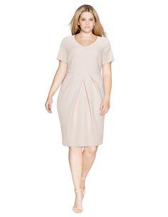 Manon Baptiste Pleat detail skirt shift dress in Pink