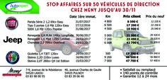 Déstockage Véhicules de Direction : jusqu'au 30/11, profitez de tarifs exceptionnels sur 50 véhicules de direction dans vos concessions MENY Automobiles de Laxou et Pulnoy !