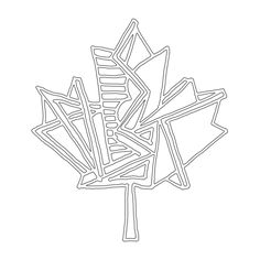 Abstract Line Drawing / Page 5867 / The Page Colouring Book / Canadian Maple Leaf / Canada 150 Logo Alternative / Free Colou. Abstract Drawings, Abstract Lines, Doodle Drawings, Leaf Coloring Page, Colouring Pages, Coloring Books, Canada 150 Logo, Canada Eh, Design Boards