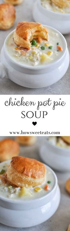 Chicken Pot Pie Soup by /howsweeteats/ I http://howsweeteats.com