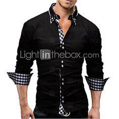Item Type: ShirtsGender: MenPattern Type: SolidSleeve Length: FullShirts Type: Casual ShirtsCollar: Turn-down CollarFabric Type: BroadclothMaterial: CottonModel Formal Men Outfit, Casual Wear For Men, Work Casual, Formal Casual, Gents Kurta Design, Kurta Pajama Men, Slim Fit Dress Shirts, Fall Shirts, Kurta Designs
