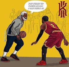 Uncle Drew and Kyrie. Wait, that's the same guy. Basketball Movies, Mvp Basketball, Basketball Legends, Nba Sports, Sports Art, Kyrie Irving Celtics, Funny Nba Memes, Nba Quotes, Nba Basket