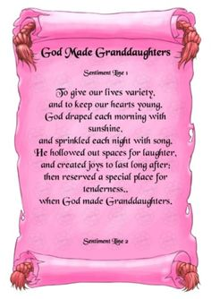 Poems to Granddaughter