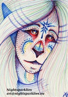 Original Drawing Snowflake by Nightsparklies on Etsy, $30.00 #originalart #art #fantasy #fantasyart #ink #mystical #anthro #blue #tribal #symbolism #snowflake #snow