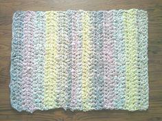 Handmade Crocheted Rag Rug Baby Room Rug Pastel Rag от JoyAndRoses