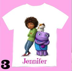 Personalized Oh  Home the movie T shirts 1st by FantasyKidsDesigns