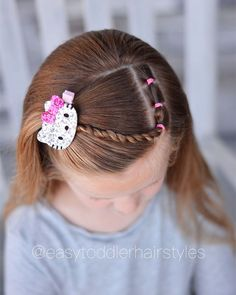Tiffany ❤️ Hair For Littles ( Little Girl Short Hairstyles, Easy Toddler Hairstyles, Baby Girl Hairstyles, Princess Hairstyles, Twist Braid Hairstyles, Twist Braids, Cool Hairstyles, Braids Easy, Updo Hairstyle