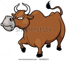 Vector illustration of cartoon Angry bull by Sarawut Padungkwan, via Shutterstock
