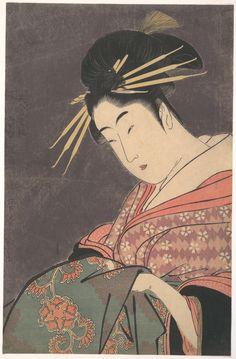 kitagawa utamaro | Kitagawa Utamaro: Courtesan - Metropolitan Museum of Art - Ukiyo-e ...