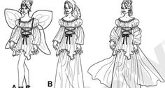 Fairy Costume Outline Outline, Past, Coloring, Fairy, Costumes, Past Tense, Dress Up Clothes, Fancy Dress, Costume