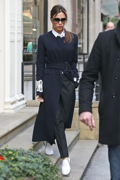 Victoria Beckham proves that flats can be incredibly chic. Opt for a pair of…