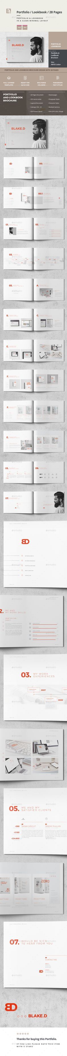 Portfolio - Portfolio Brochure Template InDesign INDD - 28 Pages, A4 & US Letter Size