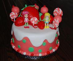 Strawberry Shortcake Cake by Joojicakes Strawberry Shortcake Birthday, Birthday Cake, Boutique, Desserts, Food, Tailgate Desserts, Deserts, Birthday Cakes, Essen