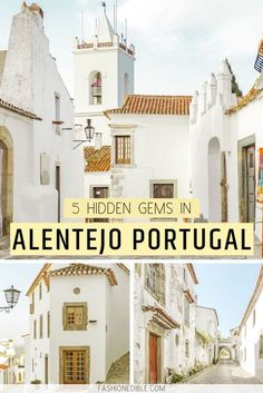 5 Towns You Cannot Miss in the Alentejo Region of Portugal Discover 5 hidden gems in Portugal! This travel guide lists the top 5 towns in the beautiful Alentejo region of Portugal that's known for its delicious food and medieval villages. Portugal Destinations, Places In Portugal, Portugal Travel Guide, Europe Travel Guide, Spain And Portugal, Travel Guides, Travel Destinations, Portugal Trip, Travel Hacks