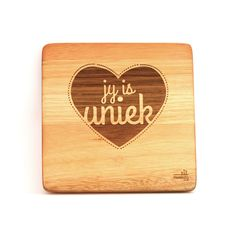 """""""Jy is uniek."""" A simple, creative design but such beautiful words. These can be bought individually or buy the whole set!"""