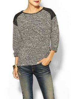 Bounce into fall with this boucle sweater.