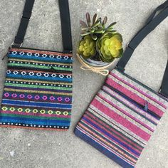 Cute boho cross body bag ☀️ Several colors to choose from all from Mexico!! Perfect cross body bag for summer! Has three pockets. Price is for each! Bags Crossbody Bags