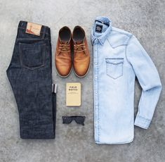 Autumn outfit. #denim #boots.