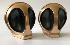 """RARE MidCentury Ben Seibel """"Alien"""" Copper Bookends Industrial Bookends, Modern Bookends, Rings For Men, Copper, Mid Century, Crystals, Antiques, Metal, Jewelry"""