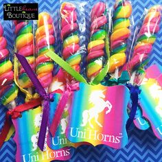 Unicorn favor tags, unicorn stickers,unicorn birthday party, unicorn lollipops, Candy stickers,Children, rainbow favor tags by LittlebeaneBoutique on Etsy https://www.etsy.com/listing/508219979/unicorn-favor-tags-unicorn