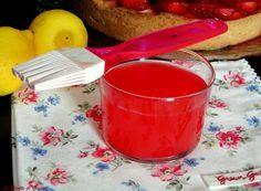 Ricetta per realizzare in casa il TORTAGEL O GELATINA per dolci alla frutta. Ricetta con e senza Bimby. Lucidante, galtina colorata per crostate, muffins