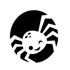 Pumpkin Carving Template: Super Cute Spider