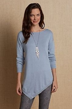 On the Angle Cashmere Sweater from Soft Surroundings
