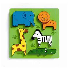 Jungle Wooden 3D Lift Out Puzzle Toy