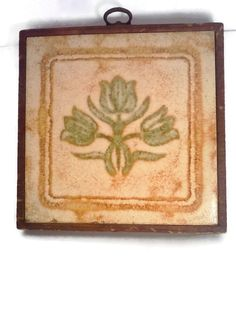 Wall Hanging with Framed Vintage Tile