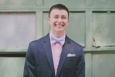 ethan, a beaming transgender groom we can't get enough of. read his and jessica's wedding story on equallywed.com #trans #lesbian #vows #vintage heidi geldhauser / our labor of love photography
