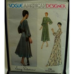 70s Jerry Silverman Evening Gown Pattern Draped by VogueVixens
