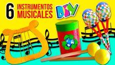 DIY Fabrica tus propios INSTRUMENTOS CASEROS ¡reciclando! * 🎸 6 MANUALID...