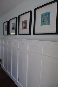 want to add panelling on wall behind headboardDecorative Hanging Metal Dining Room Wall Frame with G Wainscoting Hallway, Wainscoting Styles, Wainscoting Nursery, Wainscoting Height, Black Wainscoting, Painted Wainscoting, Dining Room Wainscoting, Wainscoting Panels, Dining Room Walls