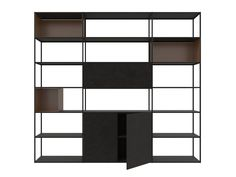 Painted metal bookcase EASY IRONY Easy Collection By Zeus design Maurizio Peregalli Bookcases For Sale, Bookshelves, Metal Bookcase, White Box, Easy, Metallic Paint, Shelving, House Design, Painted Metal