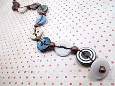 Vintage Button Bracelet Beaded Jewelry Bead by LittleBitsOFaith, $15.00