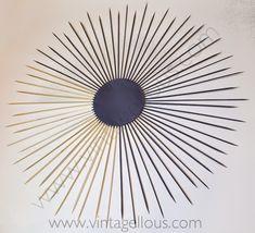 Vintagellous: DIY ESPEJO DE SOL VINTAGE Diy Canvas Frame, Casa Retro, Starburst Mirror, Diy Mirror, Resin Crafts, Creations, Home Appliances, Creative Ideas, House