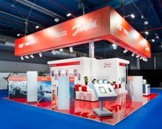 Danfoss / WOTS Trade Show Booth Design, Education Architecture, Funny Design, Graphic, Exhibition Stands, Showroom, Technology, Medium, Poster