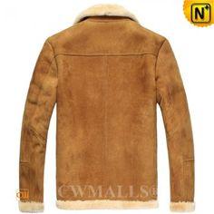 CWMALLS® Men's Rancher Shearling Sheepskin Jacket CW807136