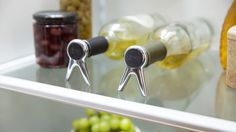Great for a cramped fridge & best part is no more dribbles & spills! The propper stoppers from @quirkyinc