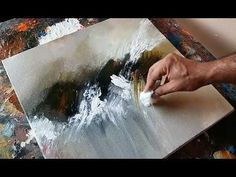 Quick demo of abstract landscape painting in acrylics using a palette knife and a brush. I'm an abstract artist who loves painting with different techniques to create abstract art. I paint as often as possible and like to Abstract Painting Easy, Acrylic Painting Techniques, Abstract Art, Lake Painting, Diy Painting, Painting Plastic, Paint Techniques, Palette Knife Painting, Art Abstrait