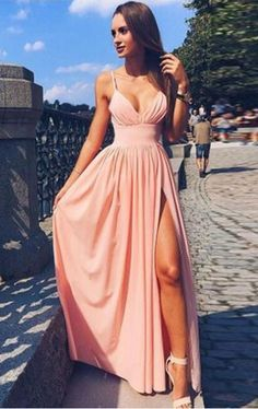 Long Prom Dresses,Cheap Prom Dress,Party Dresses,Prom Gowns,Gowns Prom,Evening Dresses,Cheap Prom Dresses,Dresses for Girls,Prom Dress UK,Prom Suit,Prom Dress Brand,Prom Dress Store,Pink Spaghetti Strap V Neck Simple Long Evening Dress,Cheap Prom Dress, M106