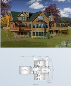 Hennessey floor plan- don't care for the whole thing but I like the entry way set-up