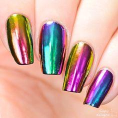 RAINBOW CHROME  nail art