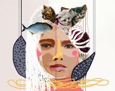 Retratos by Vivian Pantoja, via Behance