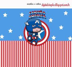 Resultado de imagem para convite capitão america para imprimir