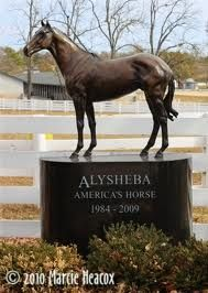 Alysheba Memorial outside of the Hall of Champions at Kentucky Horse Park